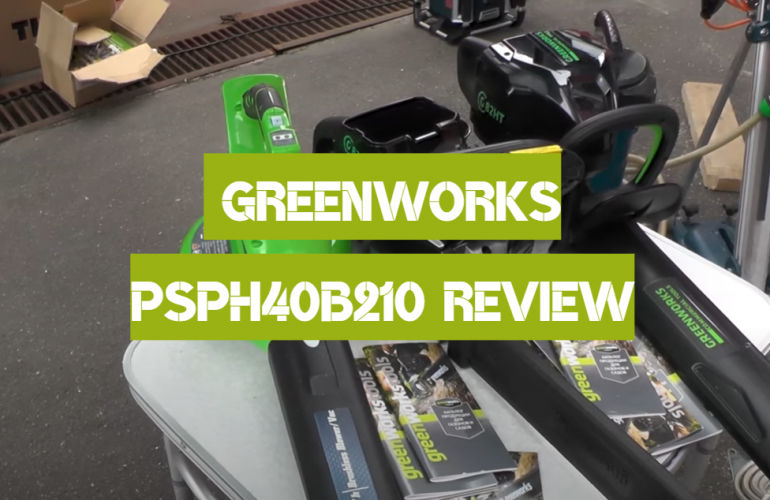 Greenworks PSPH40B210 Review